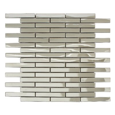 Ariya 12 x 12 Metal Mosaic Tile in Shiny Silver