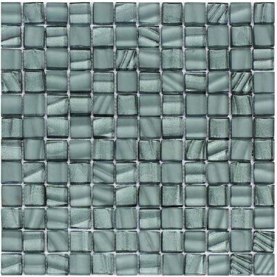 Bella 12 x 12 Glass Mosaic Tile in Slate Gray