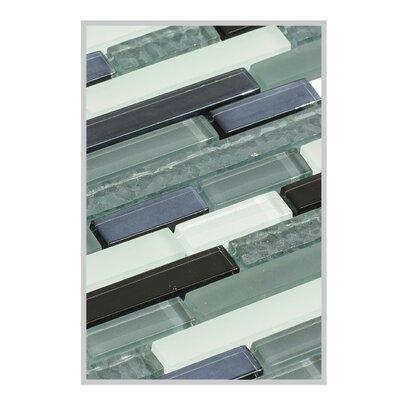 Fara 12 x 15 Glass Mosaic Tile in Gray/Black