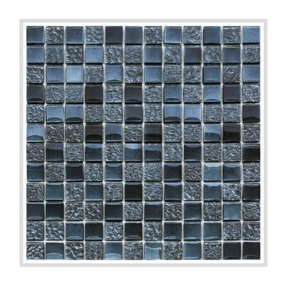 Bella 12 x 12 Glass Mosaic Tile in Midnight Blue