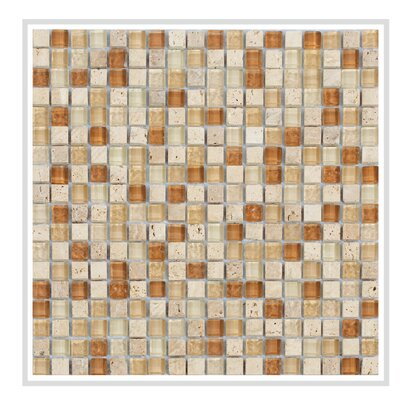 Mesh Pess 12 x 12 Glass/Stone Mosaic Tile in Beige/Brown