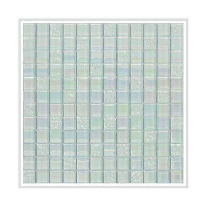 Bella 12 x 12 Glass Mosaic Tile in Aquamarine