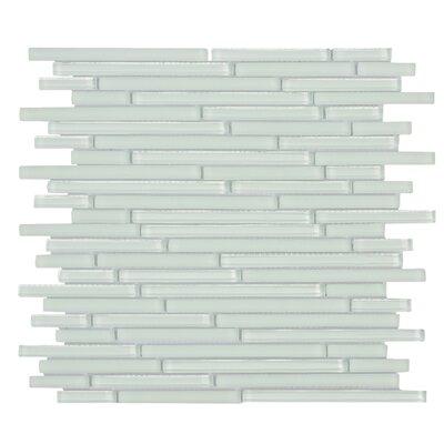Mahi 12 x 12 Glass Mosaic Tile in White