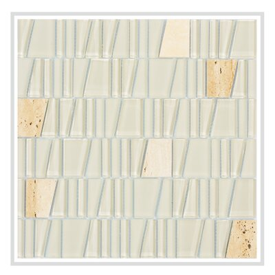 Avery 12 x 12 Glass/Stone Mosaic Tile in Beige