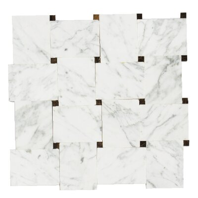 Carrera 12 x 12 Natural Stone/ Marble Mosaic Tile in White