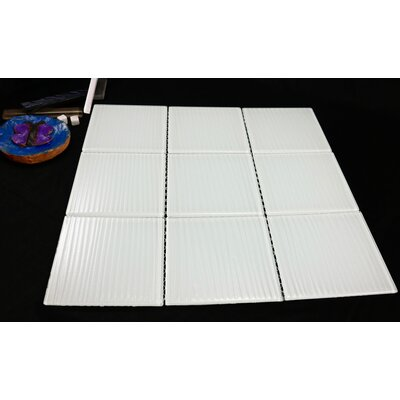 Shilla 12 x 12 Glass Mosaic Tile in White