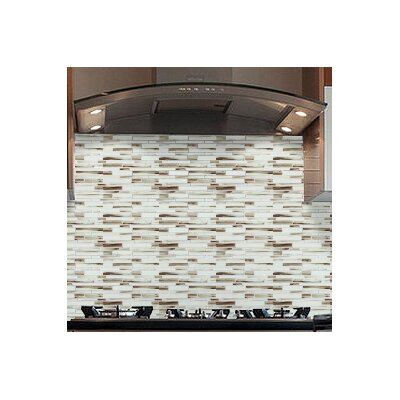 Mahi 12 x 12 Glass Mosaic Tile in Brown/Light Gray