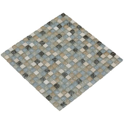 Mesh Pess 12 x 12 Glass/Stone Mosaic Tile in Light Gray/Tan