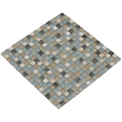 Mesh Pess 12 x 12 Glass/Stone Mosaic Tile in Light Gray/Tan