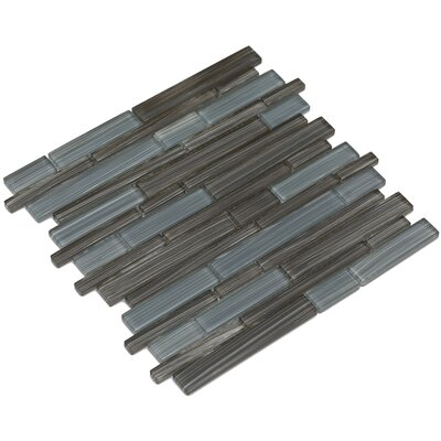 Mahi 12 x 12 Glass Mosaic Tile in Brown/Gray