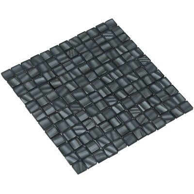 Bella 12 x 12 Glass Mosaic Tile in Slate Gray