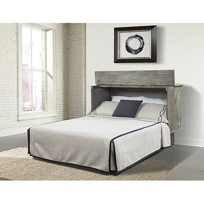 Bristol Cabinet Queen Storage Murphy Bed with Mattress Color: Gray