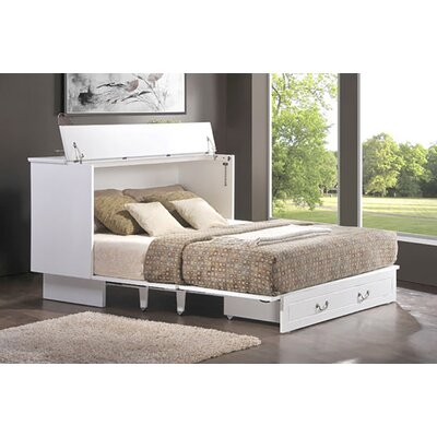 Essie Queen Storage Murphy Bed with Mattress Color: White