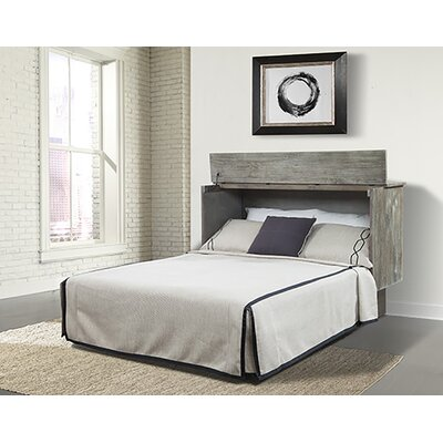 Sadie Ash Queen Storage Murphy Bed with Mattress