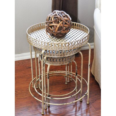 3 Piece Nesting Tables Color: White