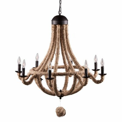 Burkhalter 8-Light Candle-Style Chandelier