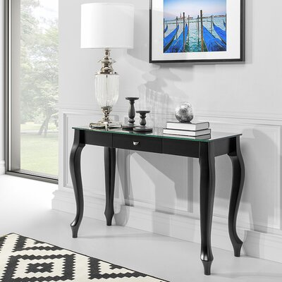 Retro Console Table Finish: Black