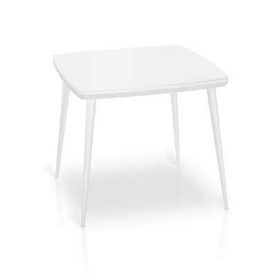Bresso Glass Top Dining Table Finish: White