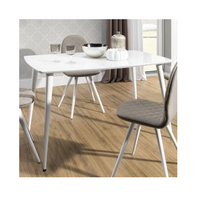 Conie Dining Table Top Finish: White