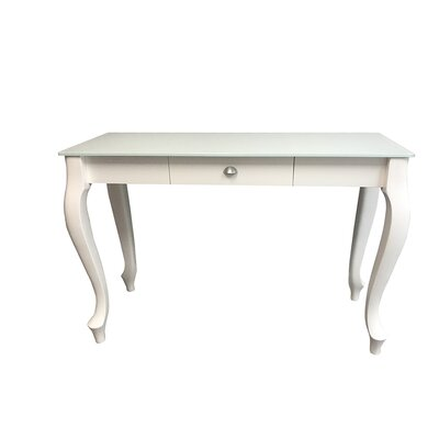 Retro Console Table Finish: White