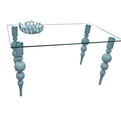 Delux Clear Glass Dining Table