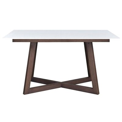 Dobbs Glass Top Extendable Dining Table Top Finish: White