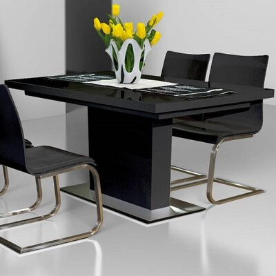 Galestown Extendable Dining Table Finish: Black