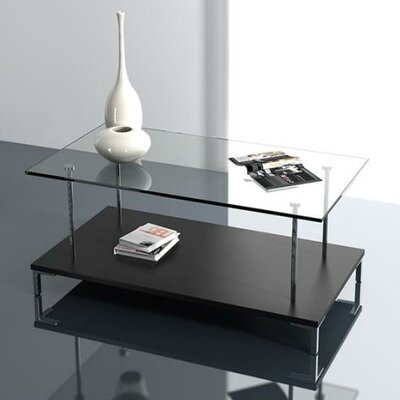 Amara Glass Top Coffee Table Finish: Wenge