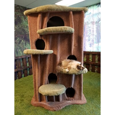 80 Cat Condo Perch Color: Ivory Tint, Color: Green