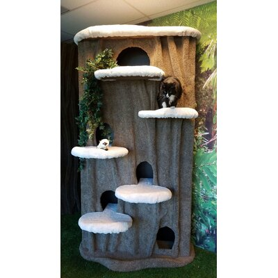 96 Cat Condo Body Color: Green, Perch Color: Ivory Tint
