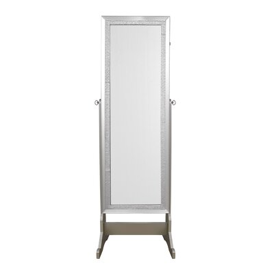 Pizzazz Full Length Jewelry Armoire with Mirror Color: Royal Champagne
