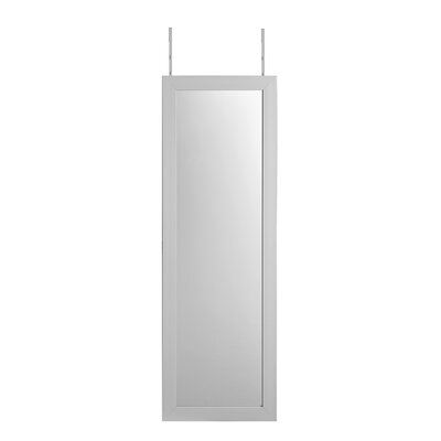Michelle Full Length Over the Door/Wall Mounted Jewelry Armoire with Mirror Finish: White