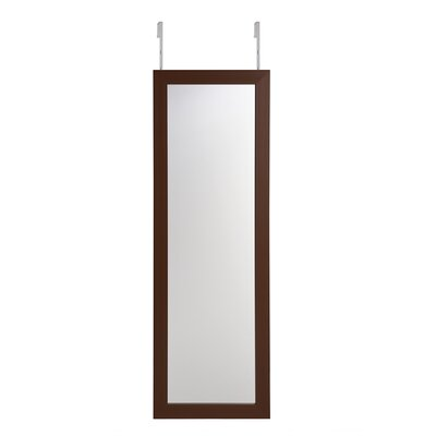 Michelle Full Length Over the Door/Wall Mounted Jewelry Armoire with Mirror Finish: Brown