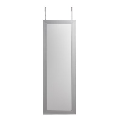 Michelle Full Length Over the Door/Wall Mounted Jewelry Armoire with Mirror Color: Gray
