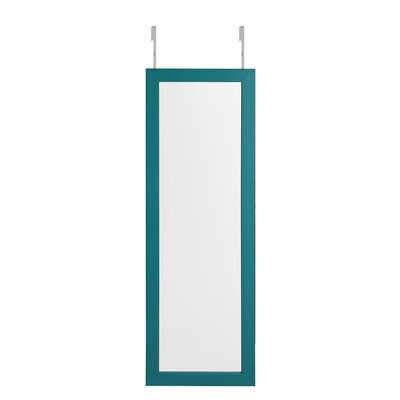 Michelle Full Length Over the Door/Wall Mounted Jewelry Armoire with Mirror Finish: Turquoise