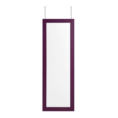 Michelle Full Length Over the Door/Wall Mounted Jewelry Armoire with Mirror Finish: Purple