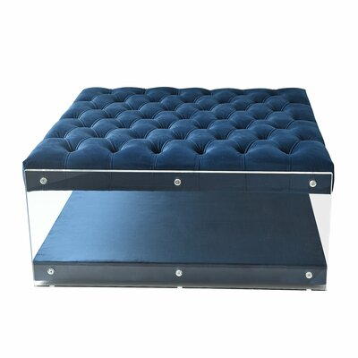 Bette Storage Ottoman Upholstery: Navy