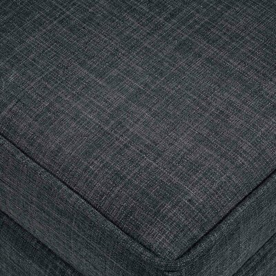Michael Storage Ottoman Upholstery: Black, Fabric: Linen