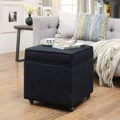 Michael Ottoman Upholstery: Black