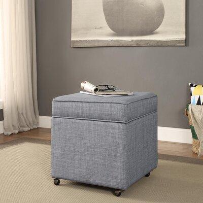 Michael Ottoman Upholstery: Light Grey