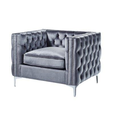Leonardo Tufted Armchair Upholstery: Gray