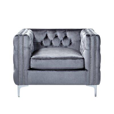 Leonardo Tufted Arm Chair Upholstery: Gray
