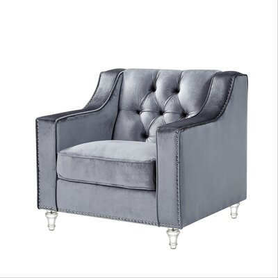 Marlowe Tufted Arm Chair Upholstery: Gray