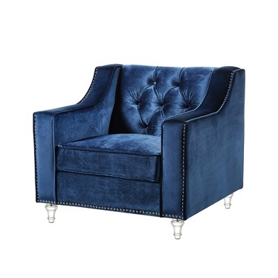 Marlowe Tufted Arm Chair Upholstery: Blue