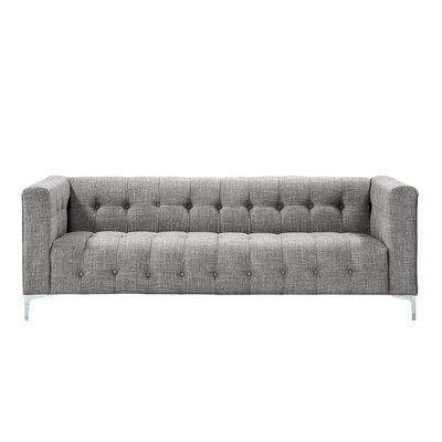 Seurat Tufted Sofa Upholstery: Light Gray