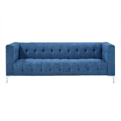 Seurat Tufted Sofa Upholstery: Blue