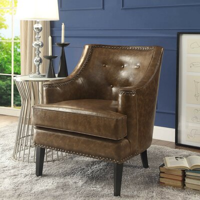 Peabody Armchair Upholstery: Camel Brown