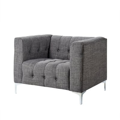 Seurat Tufted Armchair Upholstery: Gray