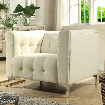Seurat Tufted Arm Chair Upholstery: Beige