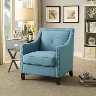 Mckinley Arm Chair Upholstery: Sapphire Blue